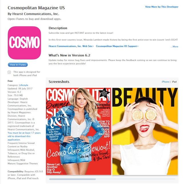 Cosmopolitan USA iTunes