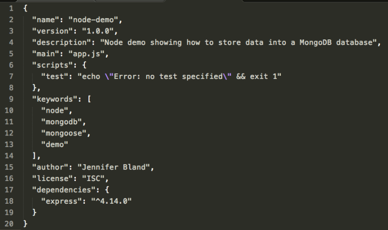 Saving Data to MongoDB Database from Node.js Application