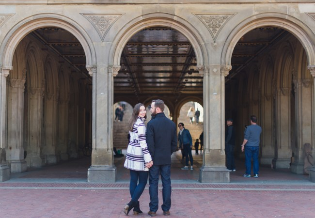 NYC Central Park Engagement Photos | Caitlin + Andrew