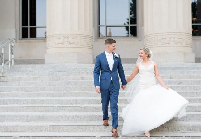 Downtown Ann Arbor Vinology Wedding Photographer | Caitlin & Chris