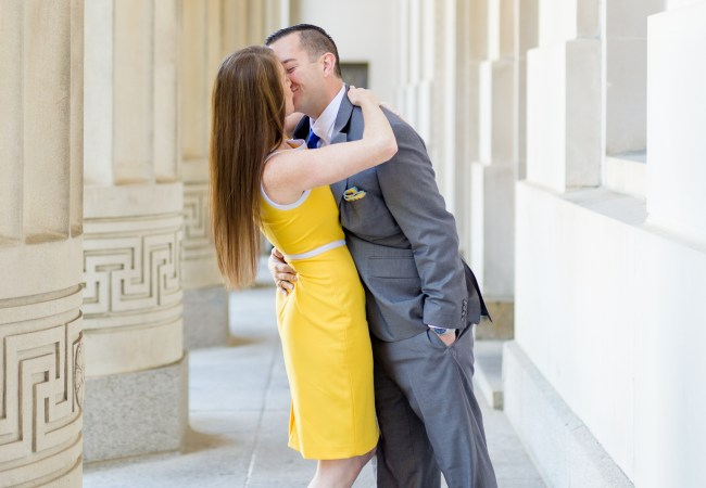 Maize & Blue University of Michigan Engagement Photos | Cristin & Jason