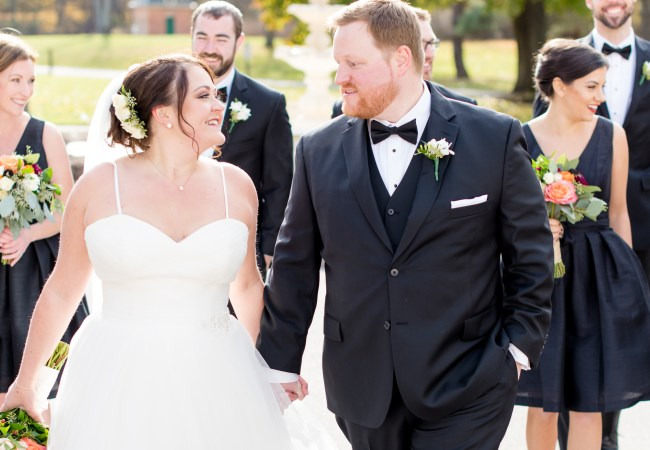 Chic black and floral filled Rochester Wedding | Jeff & Michelle