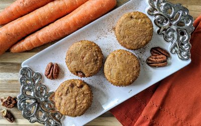 Gluten Free Carrot Pecan Muffins (Paleo, Low-Carb)