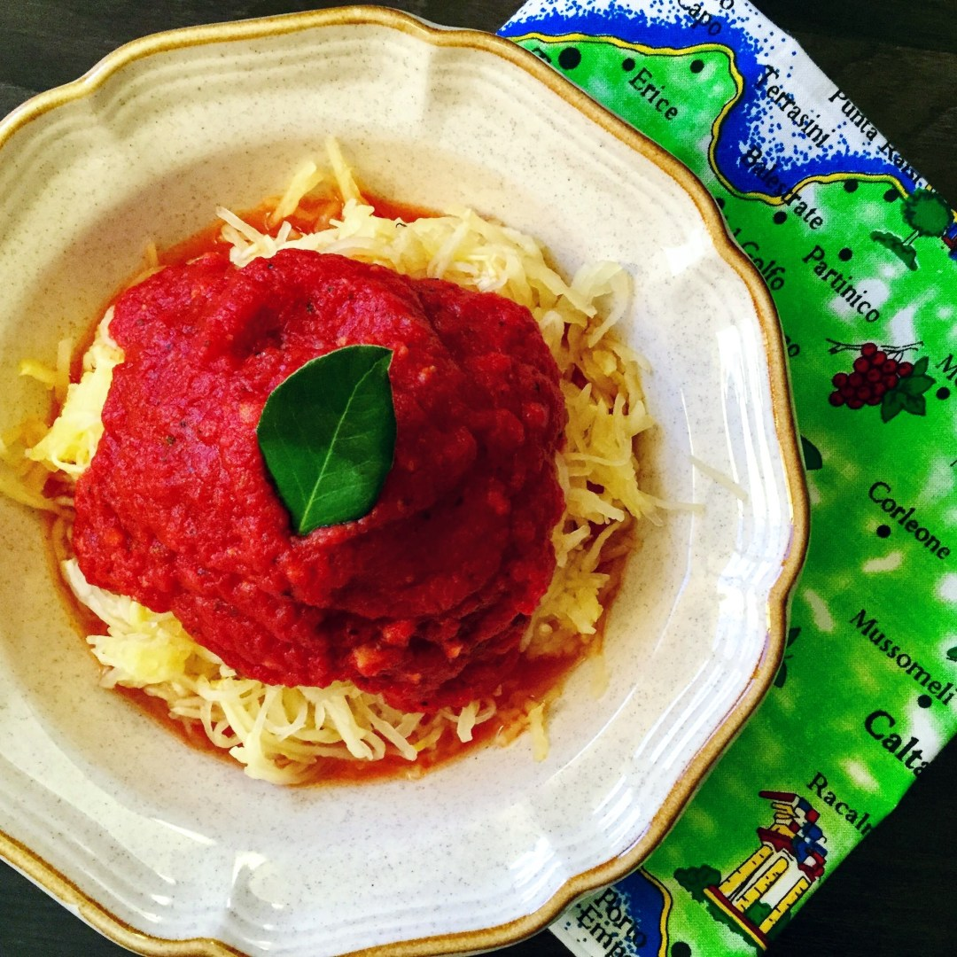 """""""Spaghetti"""" with a Classic Tomato Sauce (Gluten Free, Low-Carb, Plant-Based)"""