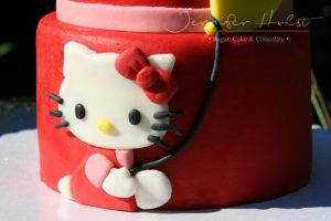 Hello Kitty  in Rot