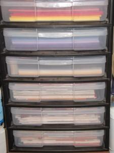 6-drawer scrapbook paper unit