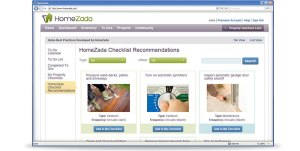 Screenshot from Home Zada and home maintenance