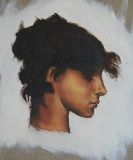 Study of Sargent Portrait, created during workshop, 14x18, oil on Canvas