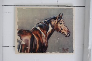 'Chief' - Image Transfer Print, 8x10 on wood panel