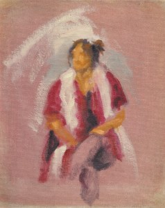 Day Two of the workshop, Quick Oil Sketch, Indoors