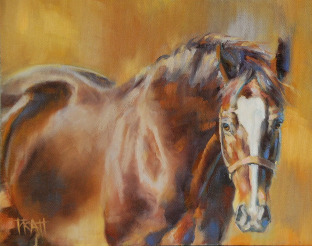 Commissioned Horse Painting, Jennifer Pratt