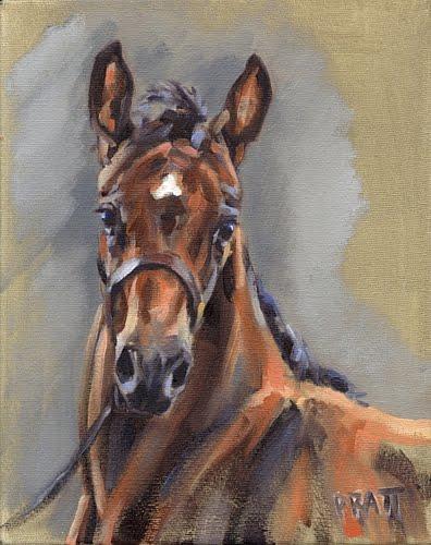 Commissioned Foal Painting, Jennifer Pratt