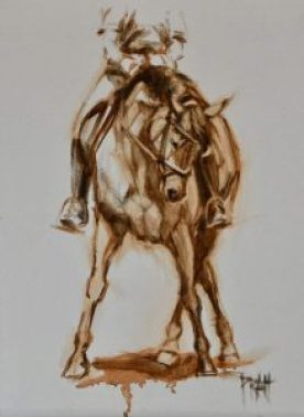 equine art, Jennifer pratt, horse art, oil painting, dressage,