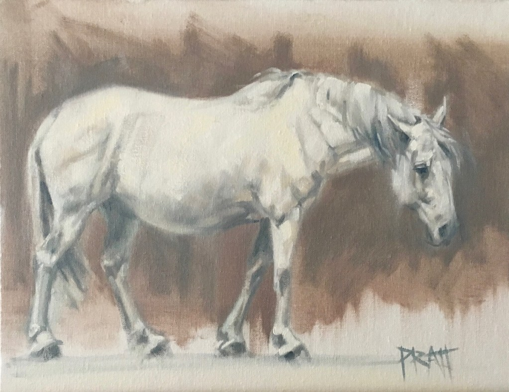 equine art, Jennifer pratt, oil painting, horses