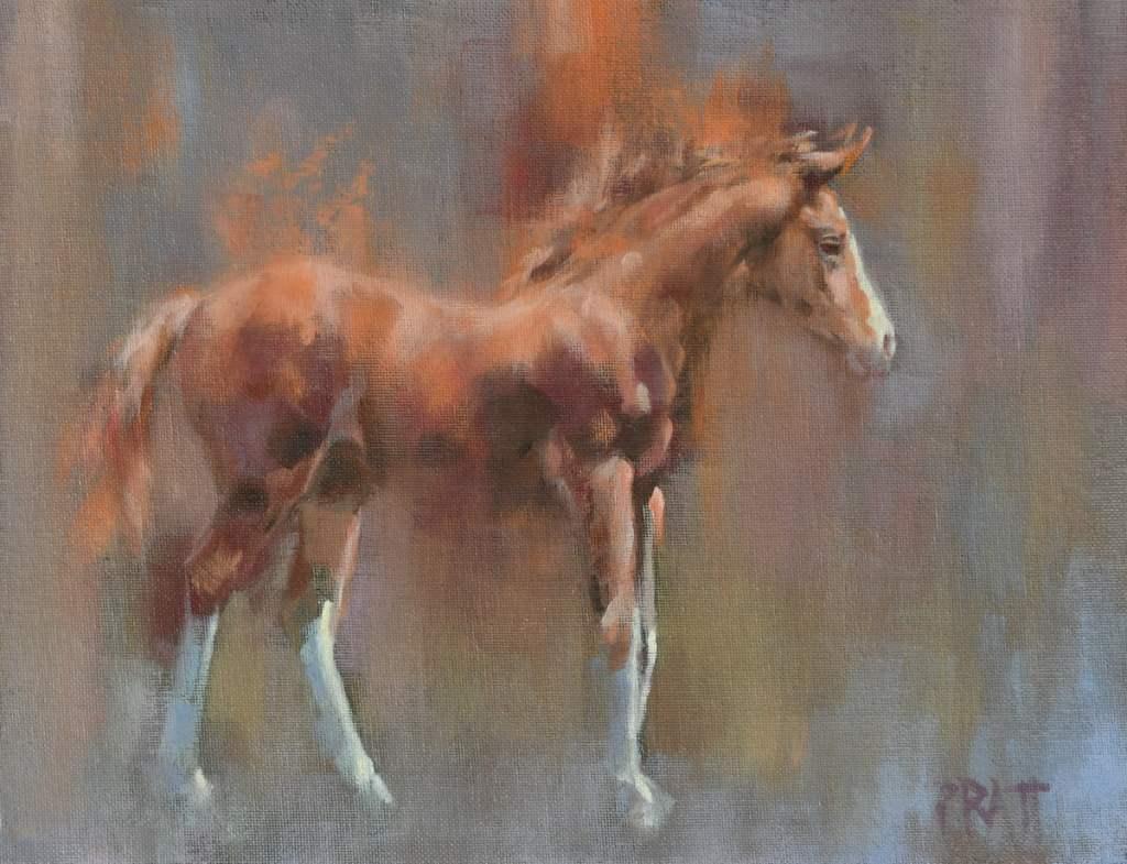 equine art-jennifer Pratt-oil painting-horses-foal