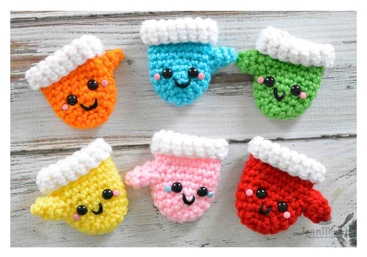 amigurumi christmas mittens jennifer q a handmade adventure - Christmas Mittens