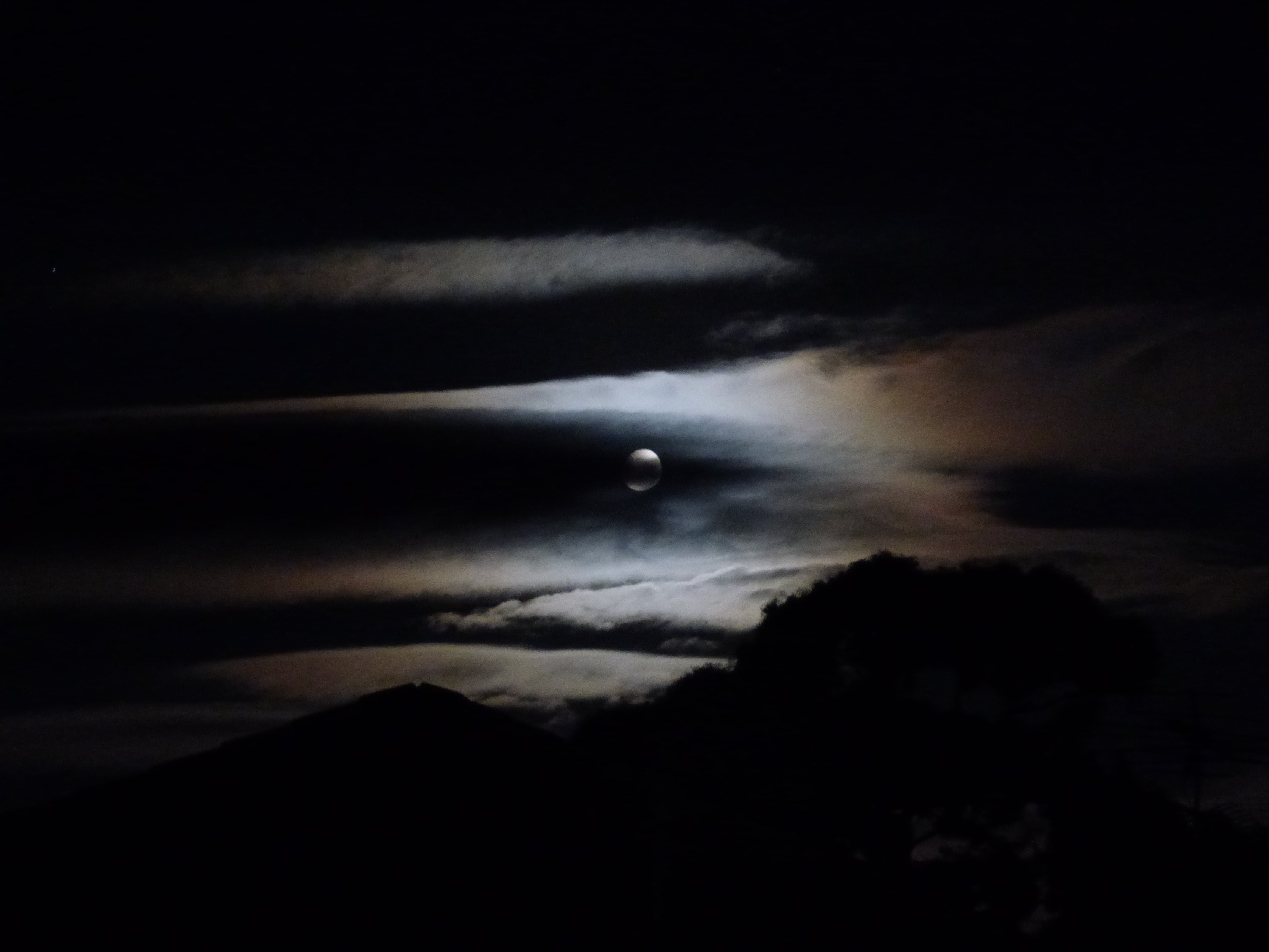 Moon Cloud Eclipse Moment