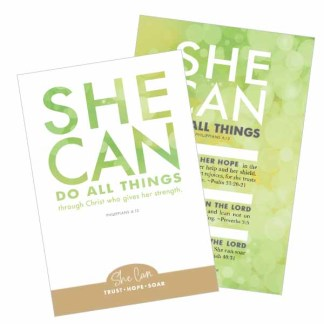 She Can Declaration Card