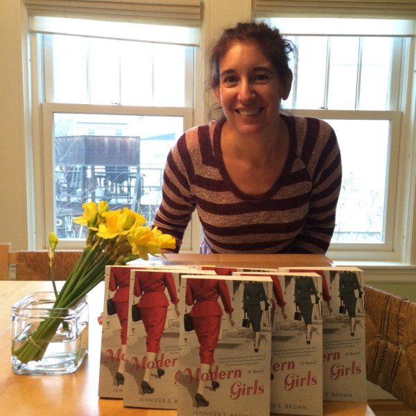 An author and her books!