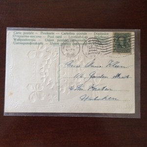 Back of 1907 postcard