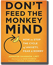 Cover Photo Don't Feed the Monkey Mind by Jennifer Shannon