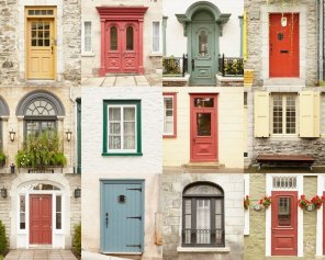 Door Poster Collage - Old Quebec Architecture