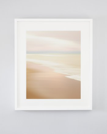 Pink Beach Surf Photograph - Washed Her Spirit Clean - Abstract Art