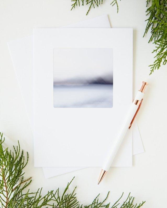 Nordic Christmas Greeting Cards - Indigo Escape - Abstract Art Cards