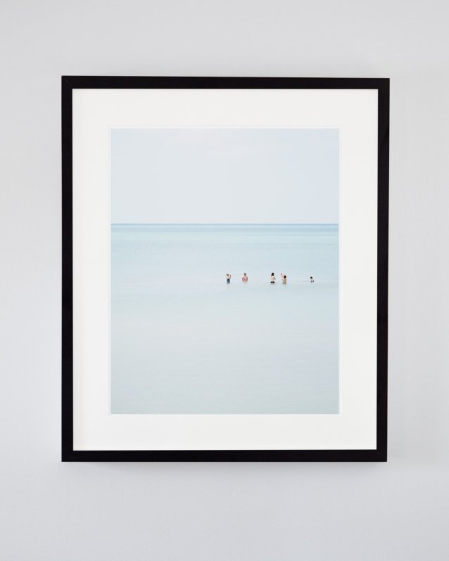 Pinery Beach Family Swim - Beach Scene Photograph
