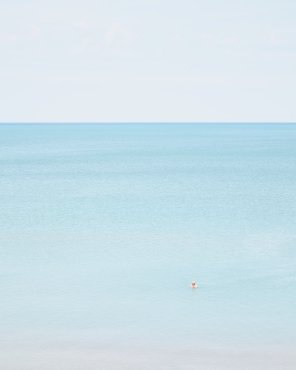 Man Swimming, Pinery - Fine Art Beach Photography
