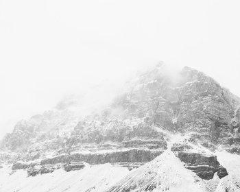 Veiled Peak, Horizontal - Black and White Mountain Photography