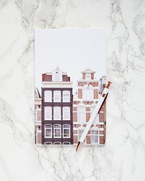 Bloemenmarkt Canal Houses, Amsterdam Notebook