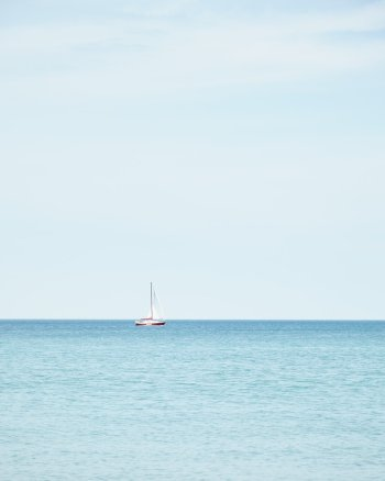 Sail Away With Me - Red Sailboat Picture by Jennifer Squires