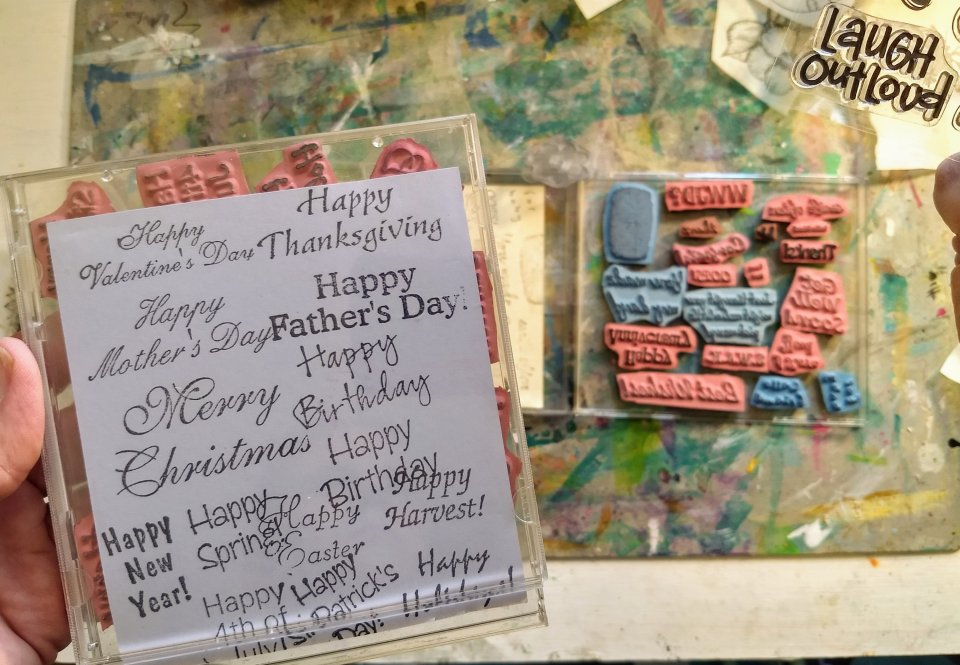 sentiment stamps, unmounted.