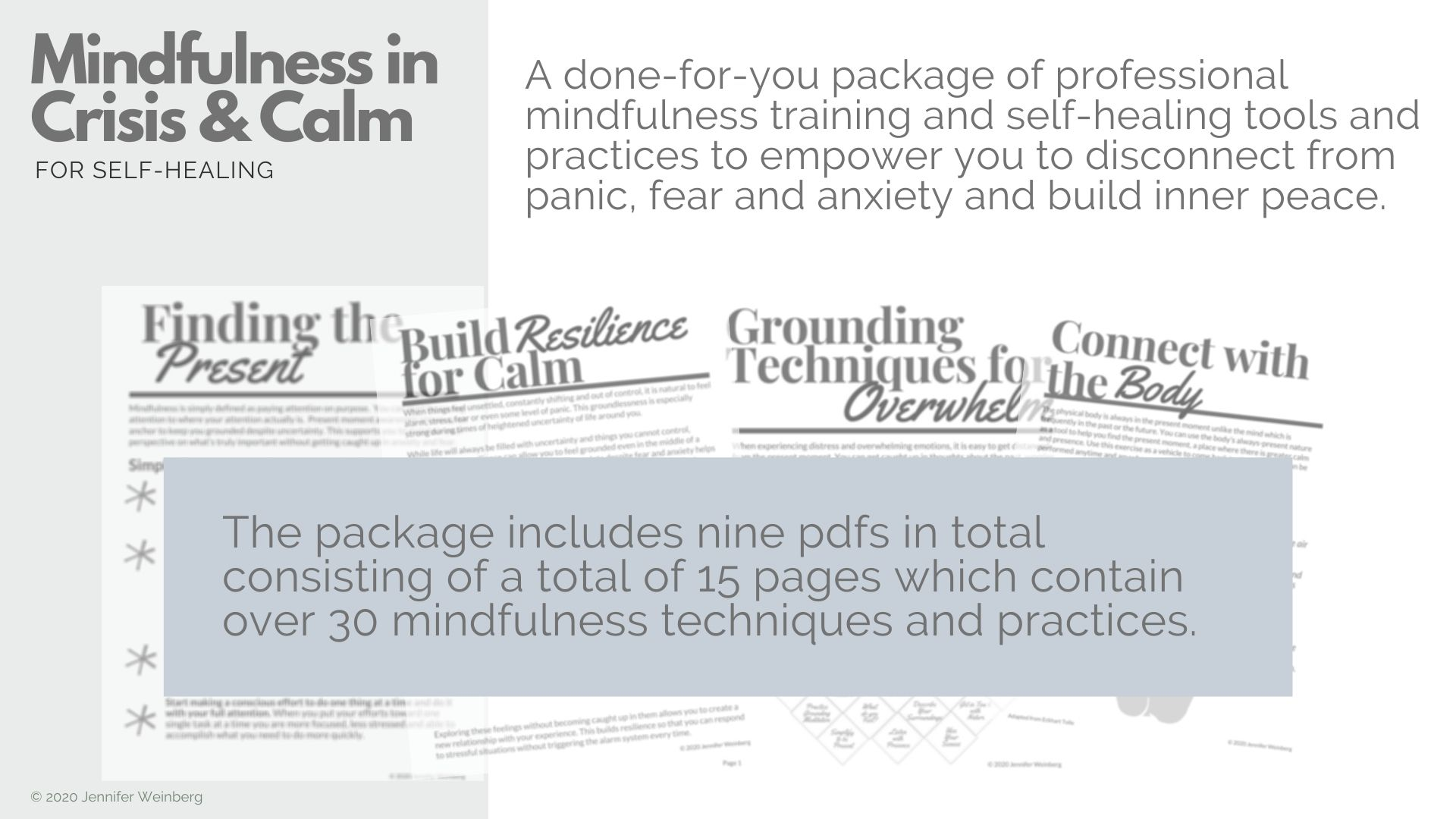 Mindfulness Resources In Crisis Amp Calm For Self Healing