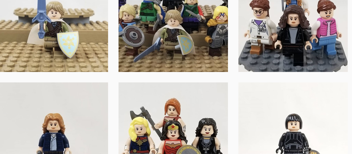 collection of instagram images with a variety of lego minifigures