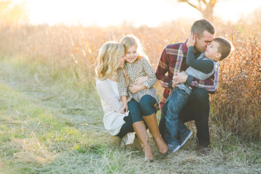 jenn jewell family in field