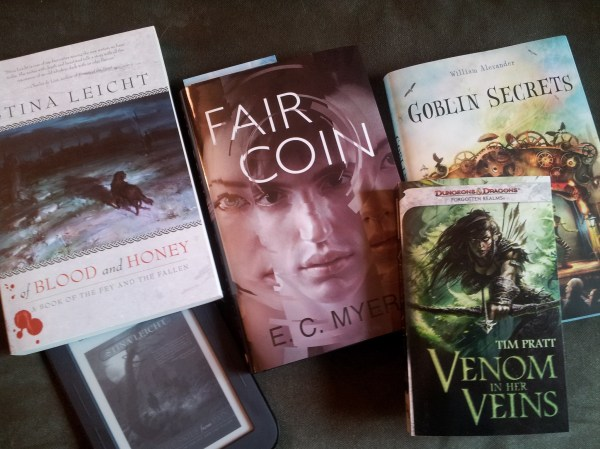 Book releases by friends: And Blue Skies From Pain, Venom in Her Veins, Fair Coin, Goblin Secrets