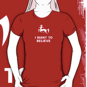 I want to believe in centaurs t-shirt