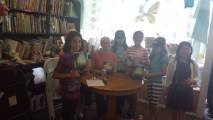 The amazing girls who invited me to their new book club came to my book launch!