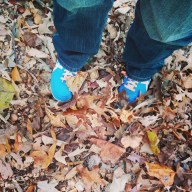 Leaves! Leaves on my feet!