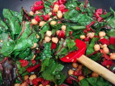 This chard and chickpea dish got us through a lot this year.