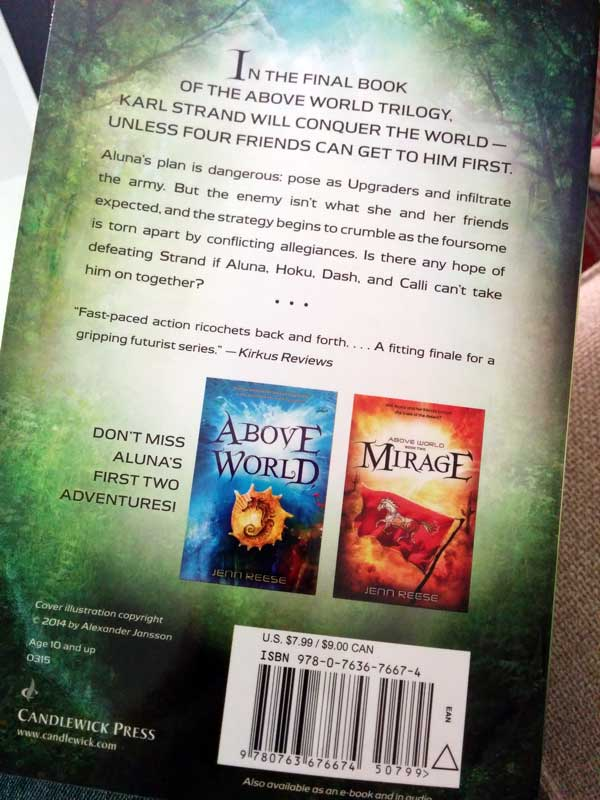 Horizon paperback - back cover