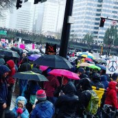 Inauguration protest.