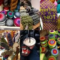 "A few pics from one of my ""yarn crawl"" days."