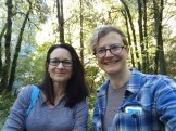 Tina and I hike through Woods Memorial Park while discussing publishing gossip.