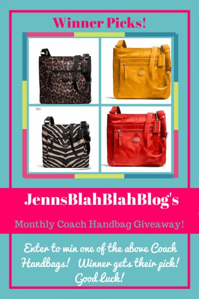 coach handbag giveaway http://jennsblahblahblog.com