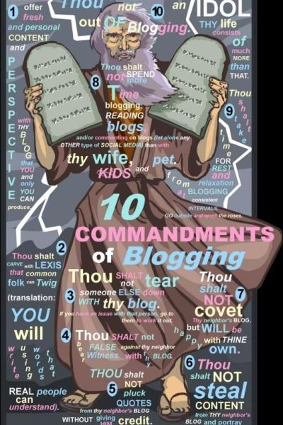 10 Commandments of Blogging