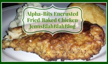 Alpha-Bits Encrusted Fried/Baked Chicken