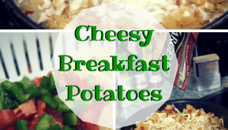 Breakfast Ideas: Cheesy Breakfast Potatoes and String Cheese Scrambled Eggs